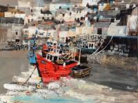 Mike Bernard Moored Fishing Boats, Polperro