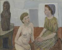 Göte Birger Ljungqvist (1894-1965) Peasant Girls in the Studio