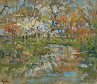 Susan Ryder Pond with Blossom