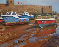 Luke Martineau Red & Blue Boats, Lynmouth Harbour