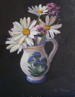 Luke Martineau Still Life of Daisies & Wild Flowers