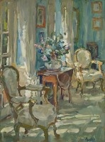 Susan Ryder Drawing Room Sunlight and Flowers