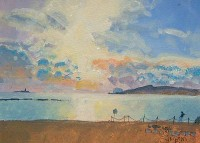 Charles Simpson Beach Evening, Alghero