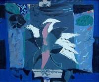 David McClure (1926-1998) RGI RSA RSW White Bird and Leaves