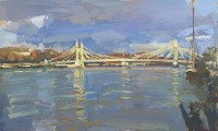 Luke Martineau Albert Bridge, Stormy Day