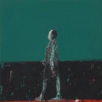 Audrey Grant Figure Walking (Blue Green)