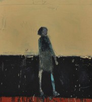 Audrey Grant Standing Woman (Yellow Background)
