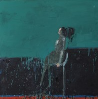 Audrey Grant Woman Looking (Blue Green)