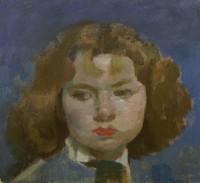Alberto Morrocco Head of a Girl 1958