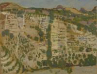 Alberto Morrocco Sicilian Landscape 1957