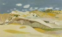 Alberto Morrocco Tuscan Landscape 1986