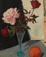 Alexander Galt Still Life with Orange and Roses