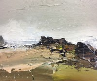Chris Bushe RSW Big Waves and A Battered Foreshore