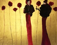 Bridget Davies Wall Flowers - It was all Poppycock!