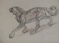 Stanislaus Brien (fl.1930-32) Large Cheetah