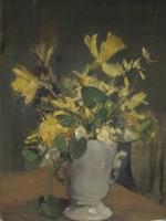 20th Century British School Still Life with Daffodils