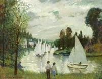 George Manchester Dinghies on the River