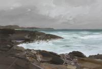 Chris Bushe High Tide Wet Rocks Saligo Bay