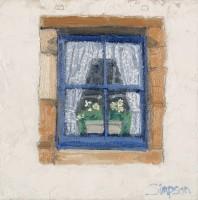 charles simpson blue window, crail