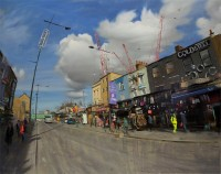 Tom Hughes Camden High Street, big clouds, March