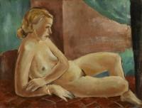 Hans Johnasson (1897 - 1955) Reclining Nude