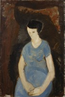 Karl Fred Andersson Woman in Blue