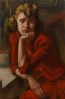 Chicago School (c. 1935) Woman in Red