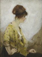 William H. Barribal Woman in Yellow