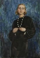 Rud Jacobsen Blonde in blue