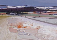 Chris Bushe Early Snow, the Road to Torphins