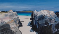 Chris Bushe Looking through to the Strand of the Monks, Iona