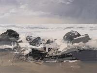 Chris Bushe Crashing Waves and an Evening Sky, Port Ban