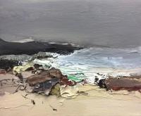 Chris Bushe RSW Dark Headland, Winter Sea