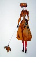 Bridget Davies Walking Dotty