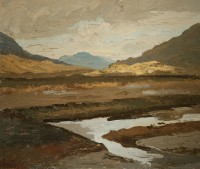 Luke Dillon-Mahon (1917-1997) Turf Bank, Maam Cross, Connemara