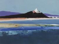 Donald Hamilton Fraser RA (1915 -2012) River landscape, River Durance, Provence