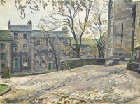 Stephen Bone (1904-1958) Durham Windy Street Scene
