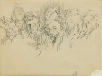 Feliks Topolski Guardroom At Night - Polish Service Women