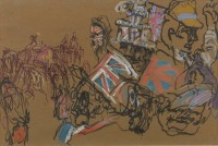 Feliks Topolski Patriotic Crowd