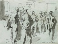 Feliks Topolski Beaver Club - At the Bar