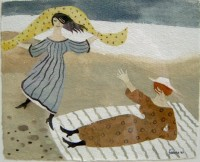 Mary Fedden Ladies on the Shore