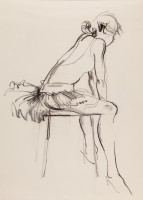 Donald Hamilton Fraser RA (1929-2009) Dancer Sitting on a Stool, Tutu
