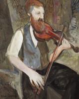Glen Preece Man with a fiddle