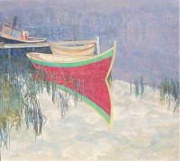 Glen Preece The red Wooden Boat, Franklin