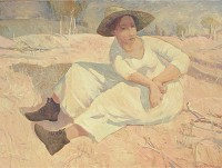 Glen Preece Woman in a Landscape