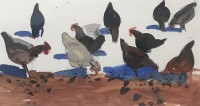 Glen Scouller Scratching Hens