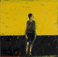 Audrey Grant Standing Figure (Yellow Background)
