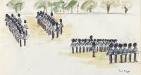 Paul Maze DCM MM (1887-1979) Guards Parading I