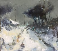 Hannah Woodman Evening Snowfall