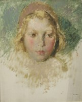Arthur Middleton Todd Head of a Girl